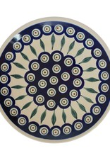 Salad Plate Peacock Pattern
