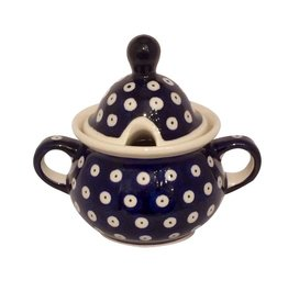 Sugar Bowl - Blue/White Dots