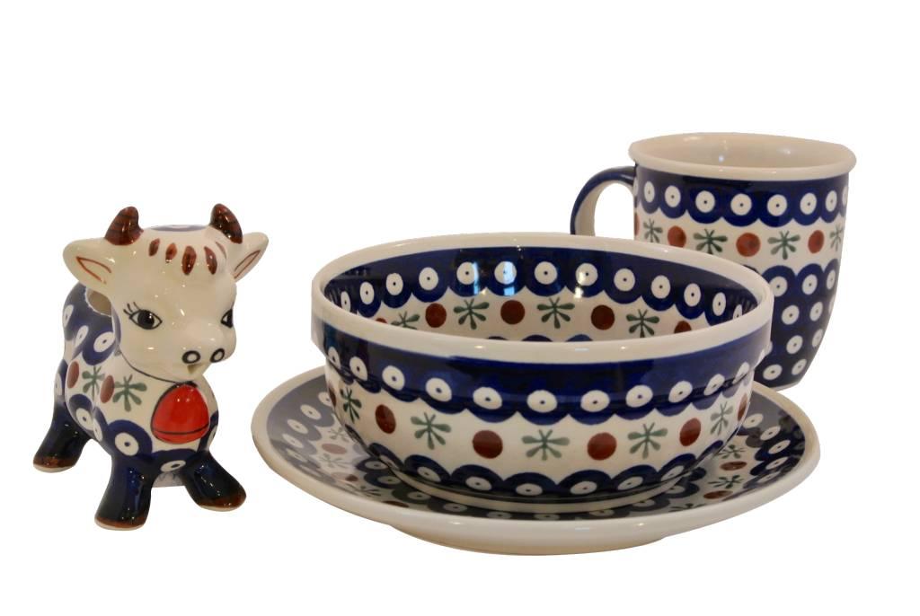 Polish Pottery Soup/Salad/Cereal Bowl - Old Poland