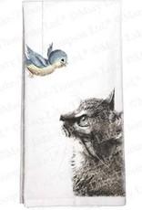Cat Bird Towel - Single