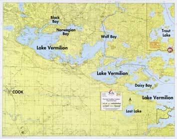WA Fisher Fisher Map F-1 West Lake Vermilion