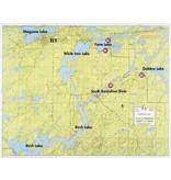 WA Fisher Fisher Map F-3 Birch, White Iron, Gabbro Lakes