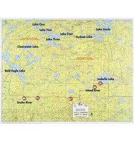WA Fisher Fisher Map F-4 One-Four, Insula Lakes