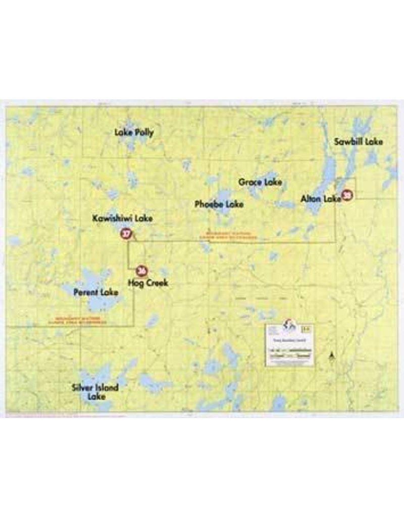 WA Fisher Fisher Map F-5 Sawbill, Kawishiwi Lakes