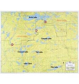 WA Fisher Fisher Map F-6 Brule Lake