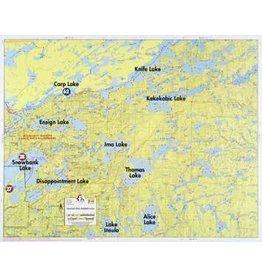 WA Fisher Fisher Map F-11 Snowbank, Knife, Kekekabic Lakes
