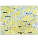 WA Fisher Fisher Map F-10 Basswood, Fall, Moose Lakes
