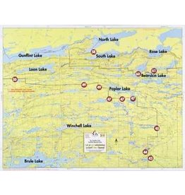 WA Fisher Fisher Map F-13 Gunflint, Bearskin Lakes