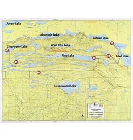 WA Fisher Fisher Map F-14 Clearwater, Greenwood, Fowl Lakes