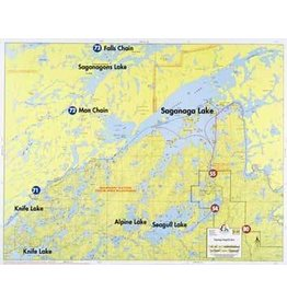 WA Fisher Fisher Map F-19 Saganaga, Seagull Lakes