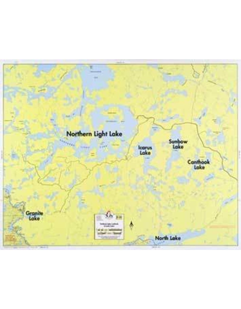 WA Fisher Fisher Map F-20 Northern Lite, Canthook, Icarus Lakes