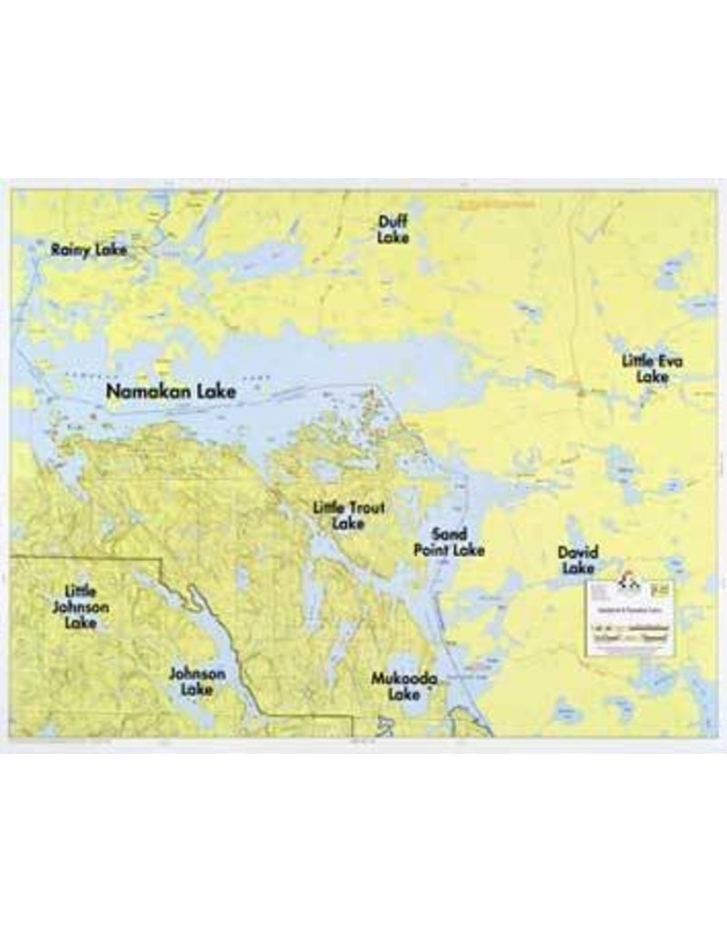 WA Fisher Fisher Map F-22 Sandpoint, Namakan Lakes