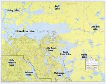 WA Fisher Fisher Map F-22 Sandpoint, Namakan Lakes