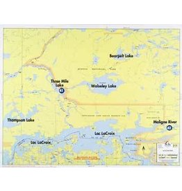 WA Fisher Fisher Map F-23 Lac LaCroix North
