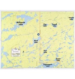 WA Fisher Fisher Map F-26 McKinzie, Powell Lakes