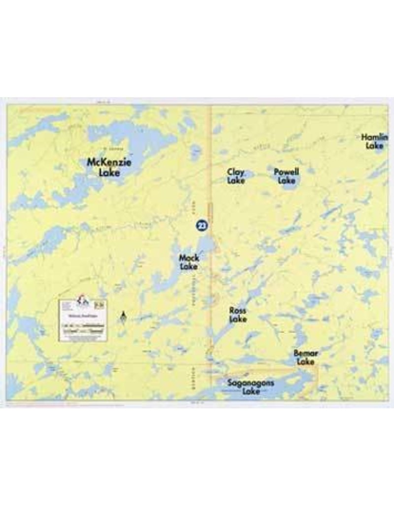 WA Fisher Fisher Map F-26 McKinzie, Powell Lakes