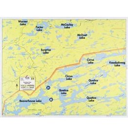 WA Fisher Fisher Map F-28 Beaverhouse, Cirrus, Quetico Lakes