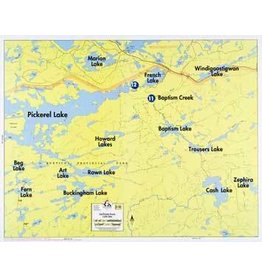 WA Fisher Fisher Map F-30 East Pickerel, French, Cash Lakes