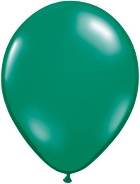 "11"" Pearl Emerald Green Qualatex Balloon 1 Dozen Flat"