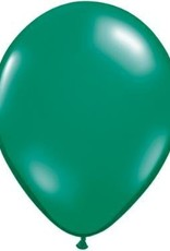 "11"" Pearl Emerald Green Qualatex Latex  Balloon 1 Dozen Flat"
