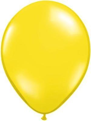 "11"" Citrine Yellow Qualatex Balloon 1 Dozen Flat"