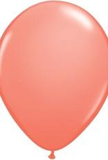 "11"" Coral Qualatex Balloon 1 Dozen Flat"