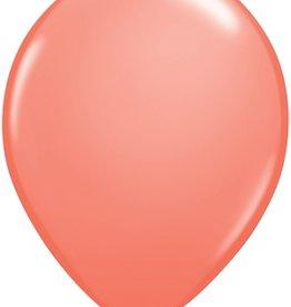 "11"" Coral Qualatex Latex  Balloon 1 Dozen Flat"