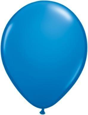 "11"" Dark Blue Qualatex Latex Balloon 1 Dozen Flat"