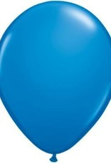 "11"" Dark Blue Qualatex Latex Balloon 1 Dozen Flat"
