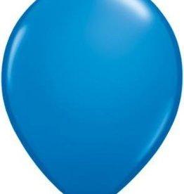 "11"" Dark Blue Qualatex Balloon 1 Dozen Flat"