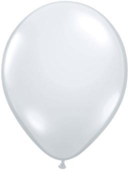 "11"" Diamond Clear Qualatex Balloon 1 Dozen Flat"