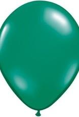 "11"" Emerald Green Qualatex Balloon 1 Dozen Flat"