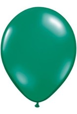"11"" Emerald Green Qualatex Latex Balloon 1 Dozen Flat"