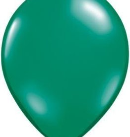 "11"" Emerald Green Qualatex Balloon 1 Dozen Flat"