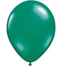 "11"" Emerald Green Qualatex Latex Balloon 1 Dozen Flat"
