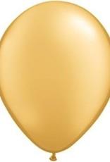 "11"" Gold Qualatex Balloon 1 Dozen Flat"