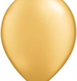 "11"" Gold Qualatex Latex Balloon 1 Dozen Flat"