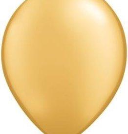 "11"" Gold Qualatex Latex Balloon 1 Dozen Flat"