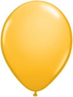 "11"" Goldenrod Qualatex Balloon1 Dozen Flat"