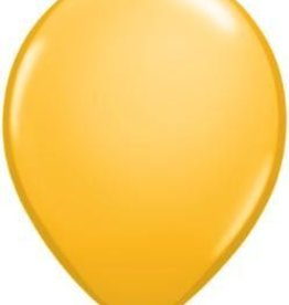 "11"" Goldenrod Qualatex Balloon1 Dozen Flat"
