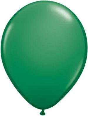 "11"" Green Qualatex Balloon 1 Dozen Flat"