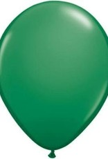 "11"" Green Qualatex Latex Balloon 1 Dozen Flat"