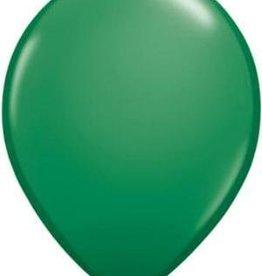 "11"" Green Qualatex Balloon 1 Dozen Flat"