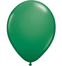 "11"" Green Qualatex Latex Balloon 1 Dozen Flat"