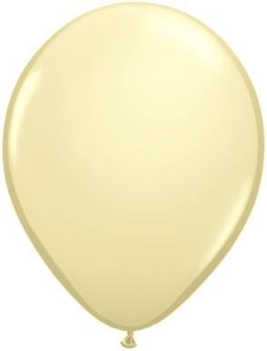 "11"" Ivory Silk Qualatex Balloon 1 Dozen Flat"