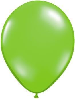 "11"" Jewel Lime Qualatex Balloon 1 Dozen Flat"