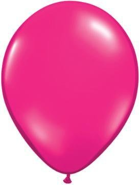 "11"" Jewel Magenta Qualatex Latex  Balloon 1 Dozen Flat"