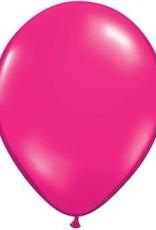 "11"" Jewel Magenta Qualatex Latex  Balloon 1 Dozen Flat"