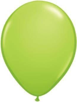 "11"" Lime Green Qualatex Latex  Balloon 1 Dozen Flat"