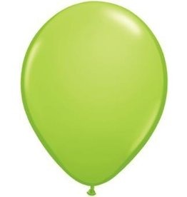 "11"" Lime Green Qualatex Latex  Balloon 1 Dozen Flat"
